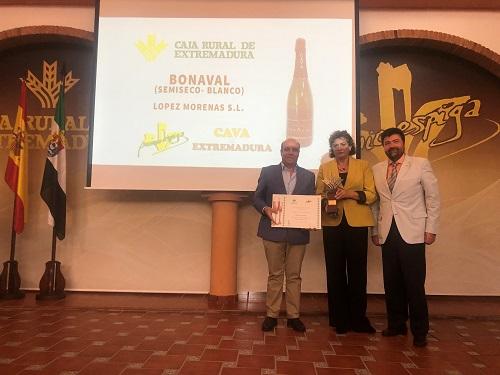 """Sierra Extremeña SL y """"Extrem"""" de Bonaval galardonados con los Premios Espiga al mejor Jamón y Cava con Denominación de Origen, que otorga Caja Rural de Extremadura"""