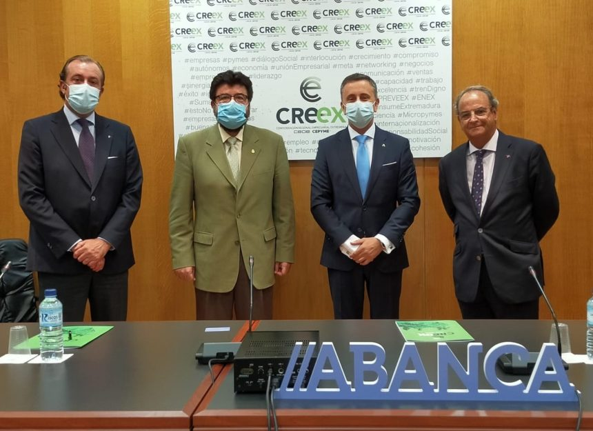 CREEX y Abanca rubrican un convenio para la financiación preferente de las empresas extremeñas