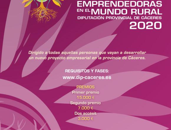 La Diputación de Cáceres premia las mejores ideas emprendedoras para las zonas rurales