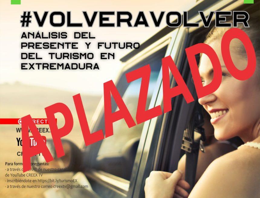 Aplazado el webinar #VOLVERAVOLVER