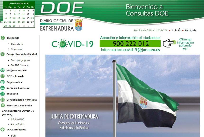 El DOE publica dos nuevos listados de autónomos beneficiarios de ayudas de 800 euros por cese de actividad o reducción de ingresos