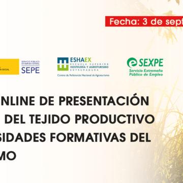 Este jueves se presenta el Estudio del Tejido Productivo del Agroturismo en España, impulsado por la Junta de Extremadura