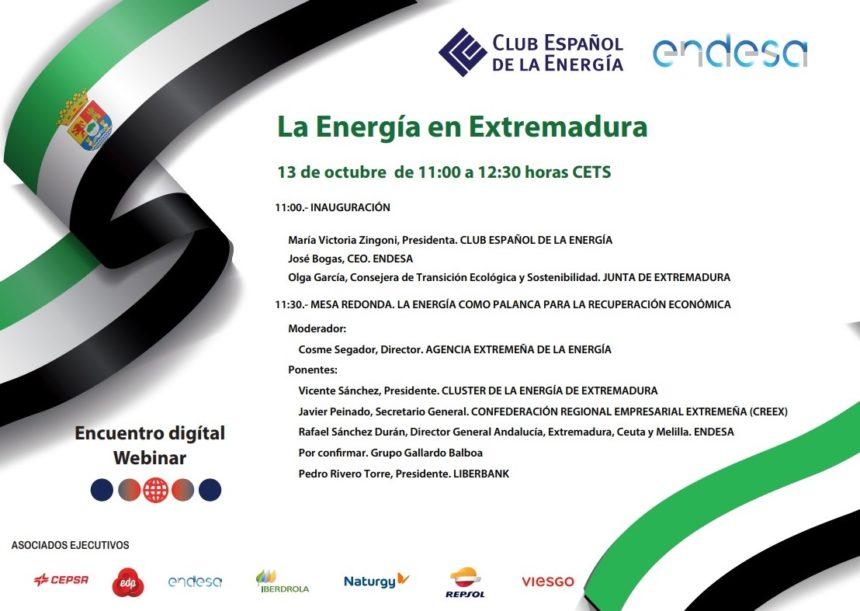 CREEX participa este martes en el encuentro digital 'La Energía de Extremadura'