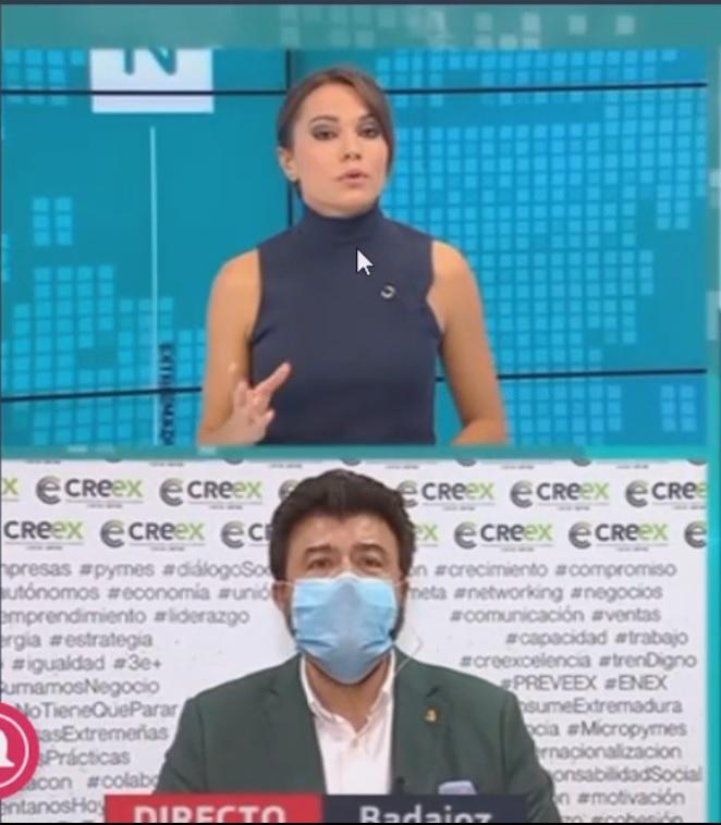 Javier Peinado habla en Canal Extremadura TV sobre el informe de Sanidad que apunta a que solo el 2,39% de contagios se producen en la hostelería o el comercio (video)