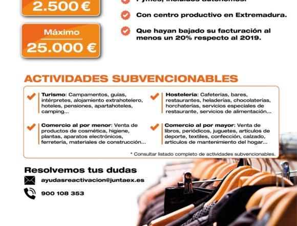 Guía para las ayudas directas a comercio, hostelería, turismo y sectores vinculados