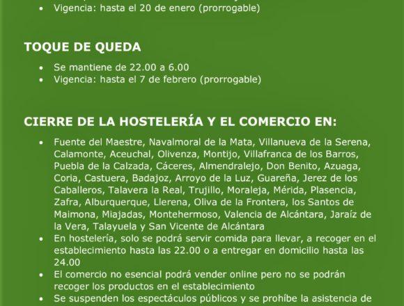 Nuevas medidas: cierre perimetral de todas las poblaciones y cierre de la hostelería y el comercio en 35 localidades