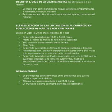 CREEX muestra su satisfacción por la decisión de la Junta de flexibilizar la apertura del comercio y por el incremento de fondos y actividades beneficiarias de las ayudas directas