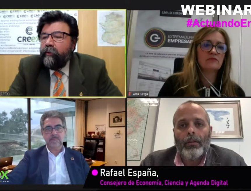 Webinar #ActuandoEnPositivo: la Junta prepara nuevas medidas de apoyo a empresas y autónomos