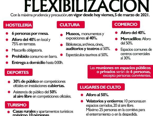 Entran en vigor las nuevas medidas de flexibilización