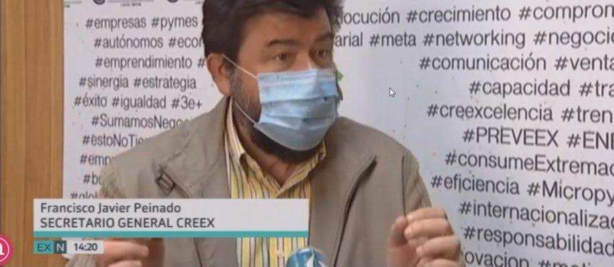 Javier Peinado comenta en Canal Extremadura TV las ayudas del Gobierno a las empresas (vídeo)