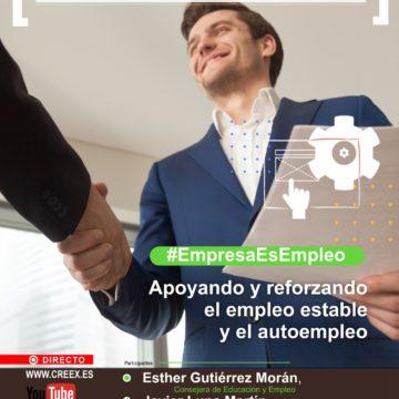 CREEX analiza las ayudas al empleo estable y al autoempleo en el webinar #EmpresaEsEmpleo