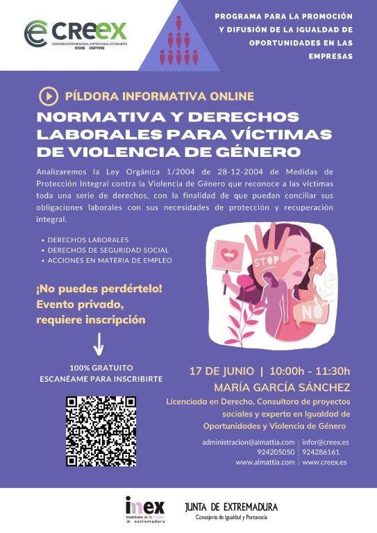 Nueva 'píldora de igualdad', centrada en la normativa y derechos laborales para víctimas de violencia de género