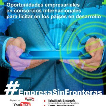 El webinar #EmpresaSinFrontera informa a las empresas extremeñas de las oportunidades para formar consorcios internacionales que accedan a licitaciones en países en desarrollo