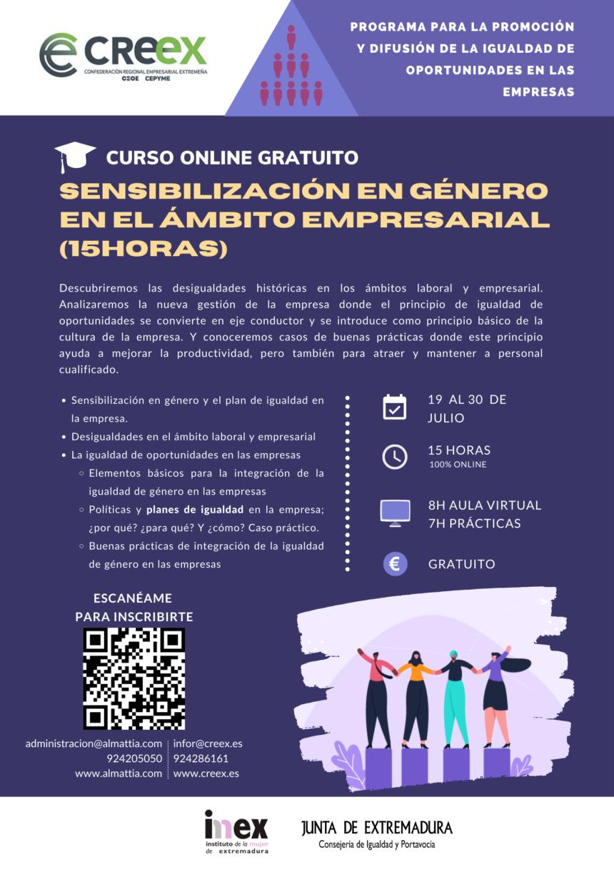 Curso gratuito sobre sensibilización de género en el ámbito empresarial