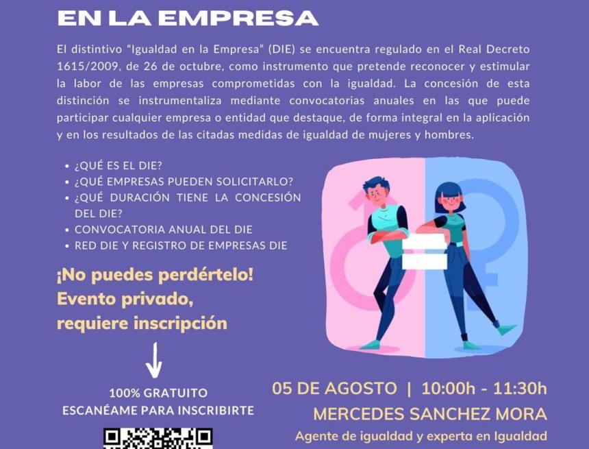 CREEX organiza una nueva 'píldora de igualdad', centrada esta vez en el Distintivo de Igualdad en la Empresa (DIE)