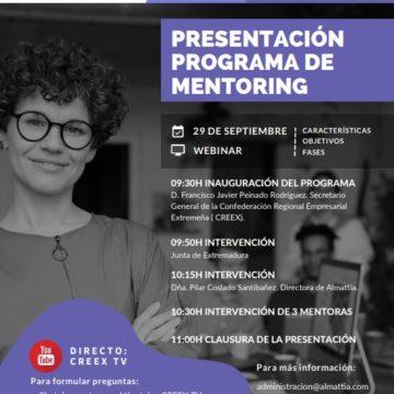 CREEX presenta este miércoles una nueva edición de su Programa de Mentoring, orientado a guiar y asesorar a mujeres emprendedoras
