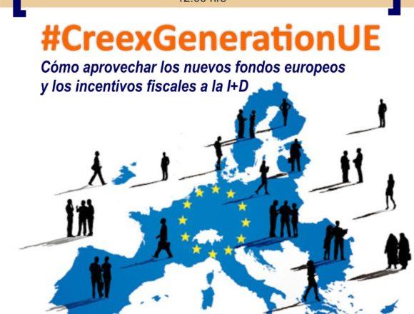 CREEX aborda en su webinar #CreexGenerationUE el acceso de las empresas extremeñas a los fondos Next Generation y a los beneficios fiscales por I+D+i