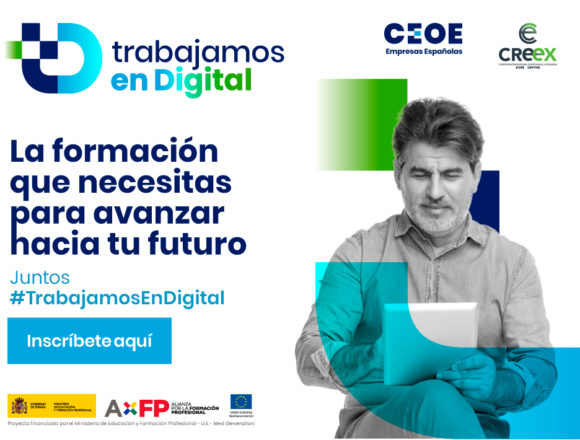 Cursos GRATUITOS de formación en competencias digitales para trabajadores y autónomos organizados por CREEX y CEOE