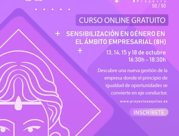 Del 13 al 18 de octubre, celebramos un curso gratuito de sensibilización en género en el ámbito empresarial dentro del Proyecto Aequitas